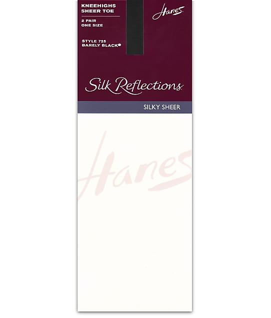 Hanes: Silk Reflections Sheer Toe Knee Highs 2-Pack