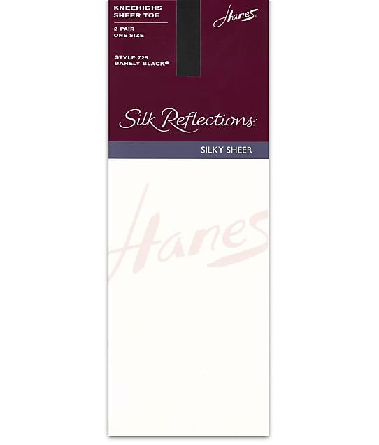 Hanes: Silk Reflections Sheer Toe Knee Highs 2-Pack