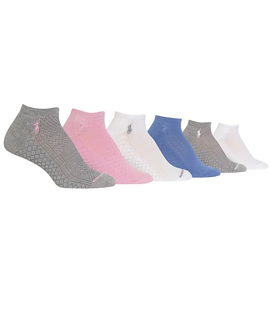 Ralph Lauren: Textured Low-Cut Ankle Socks 6-Pack