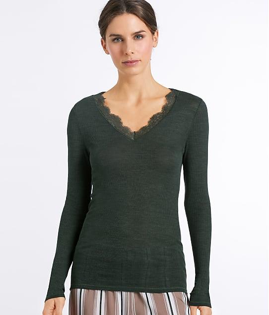 Hanro: Woolen Lace Knit Shirt