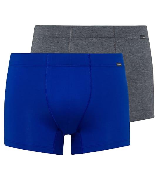 Hanro Cotton Essentials Boxer Brief 2-Pack in Sapphire / Coal 73079