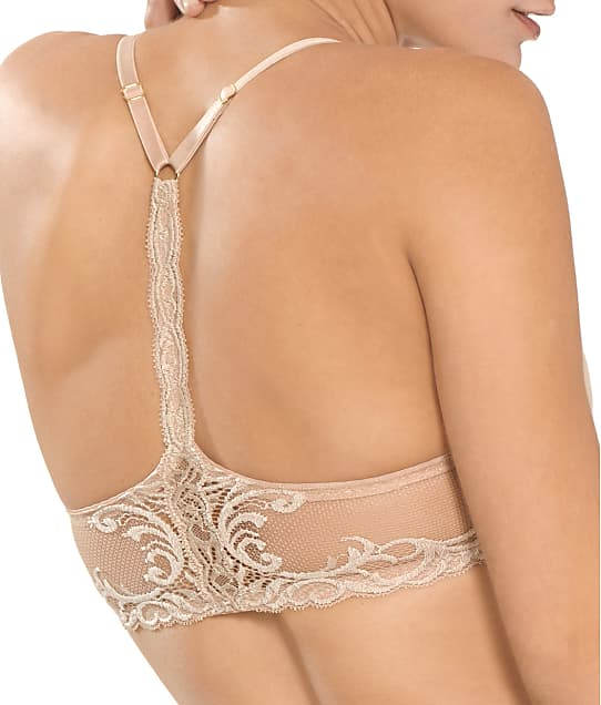 Natori Feathers Front-Close T-Back Bra in Cafe 735023