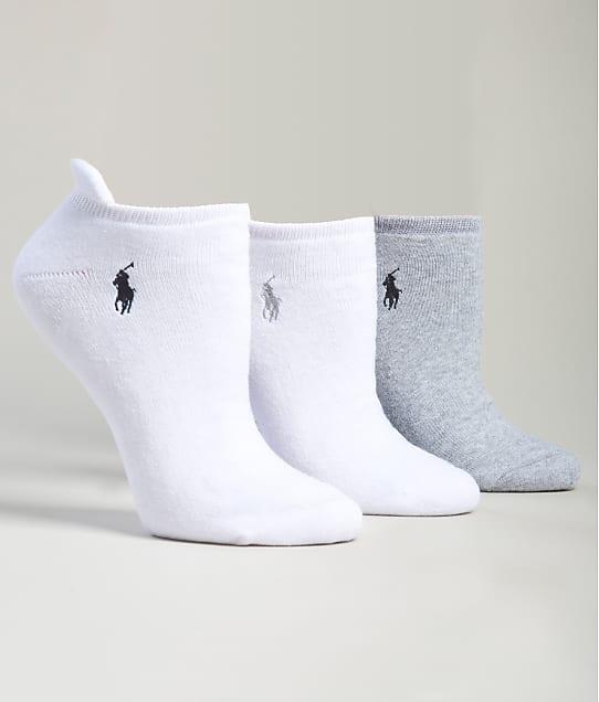 Ralph Lauren: Heel Tab Low-Cut Socks 3-Pack