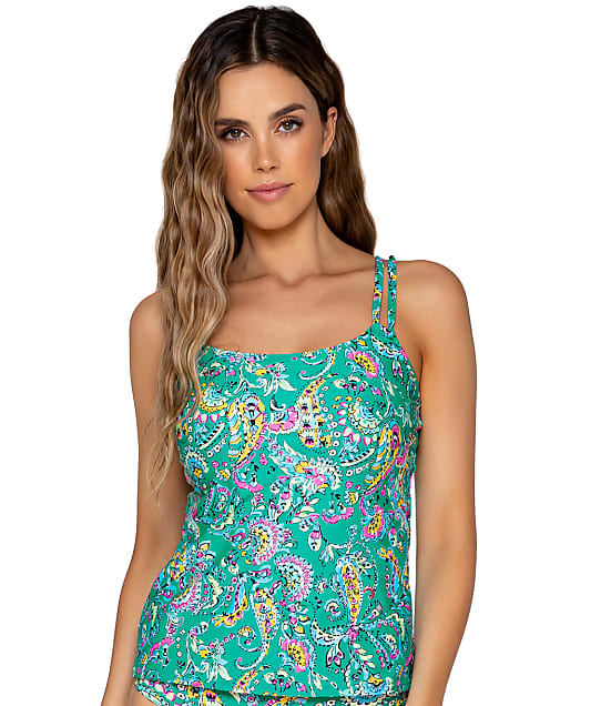 Sunsets: Paradise Paisley Taylor Underwire Tankini Top