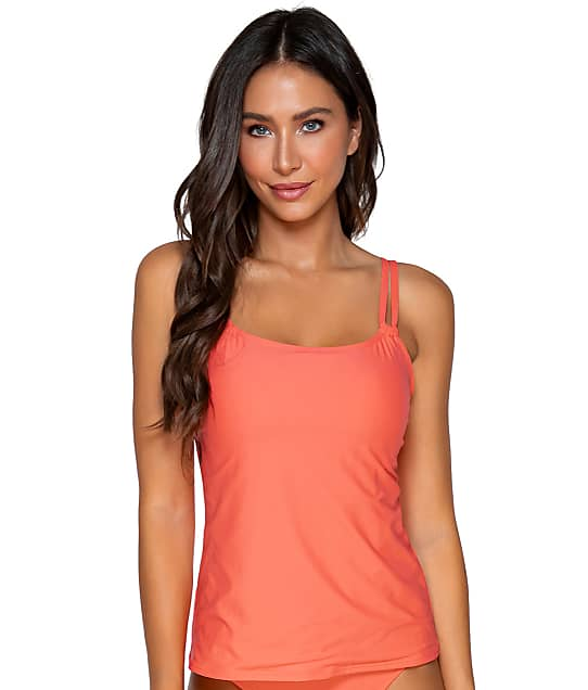 Sunsets: Tropical Coral Taylor Underwire Tankini Top