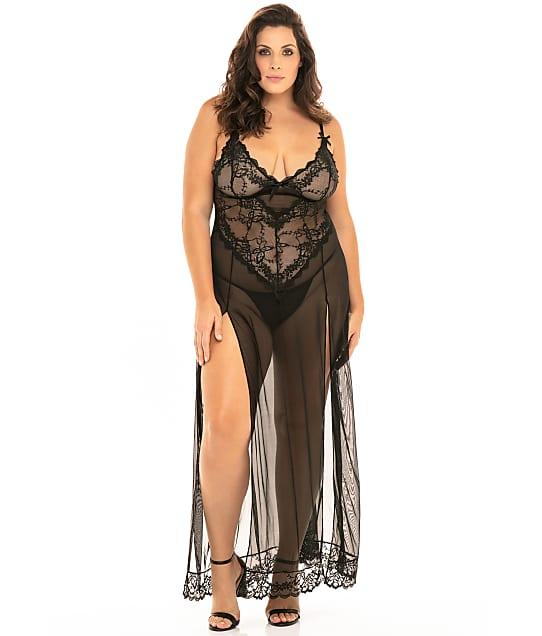 Oh Là Là Chéri   Plus Size Valentine Gown Set in Black 76-11495X