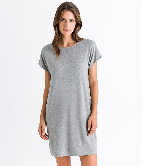Hanro Natural Elegance Knit Sleep Shirt in Grey Melange 76387