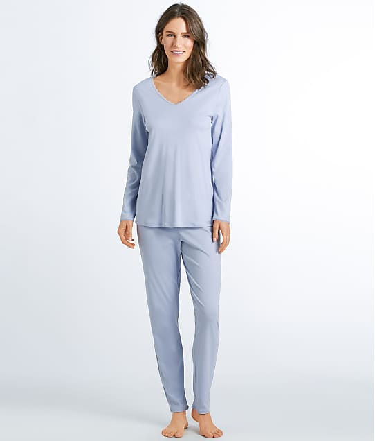 Hanro: Bea Cotton Knit Pajama Set
