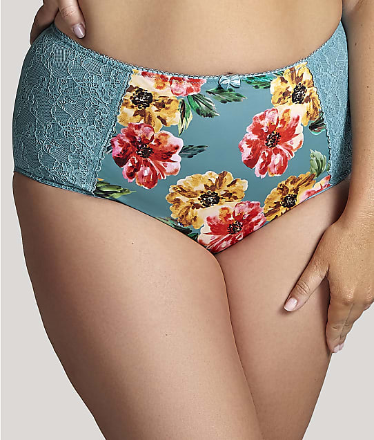 Sculptresse Chi Chi Full Brief in Turquoise Floral 7692