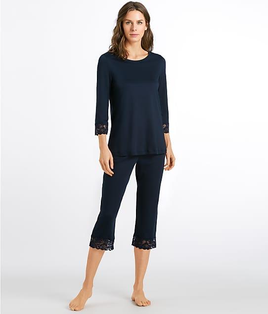 Hanro: Moments Cropped  Knit Pajama Set