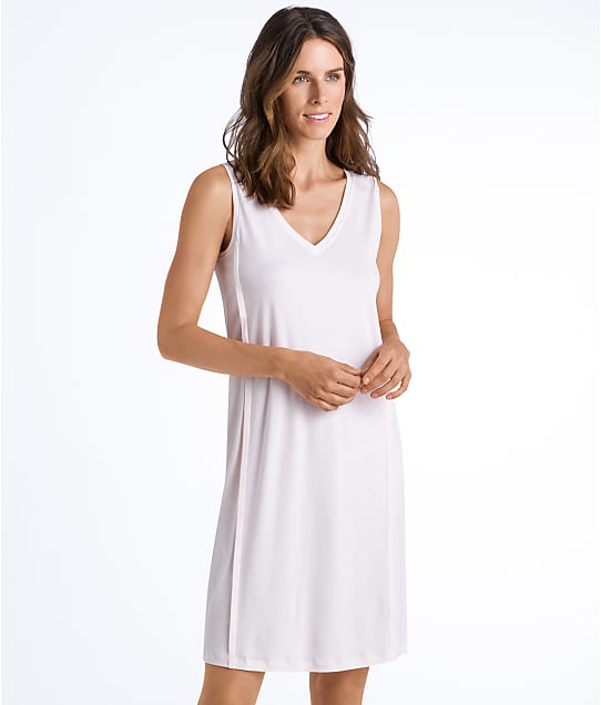 Hanro Pure Essence Knit Tank Gown in Rosewater 77946