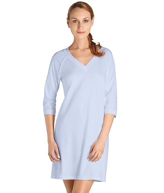 Hanro Pure Essence Knit Sleep Shirt in Blue Glow 77948