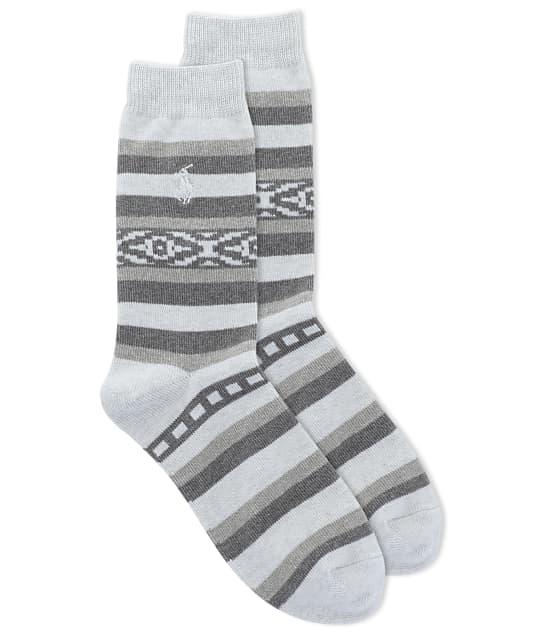 Ralph Lauren: Safari Stripe Crew Socks
