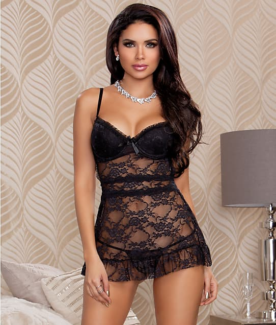 iCollection: Stretch Lace Babydoll Set