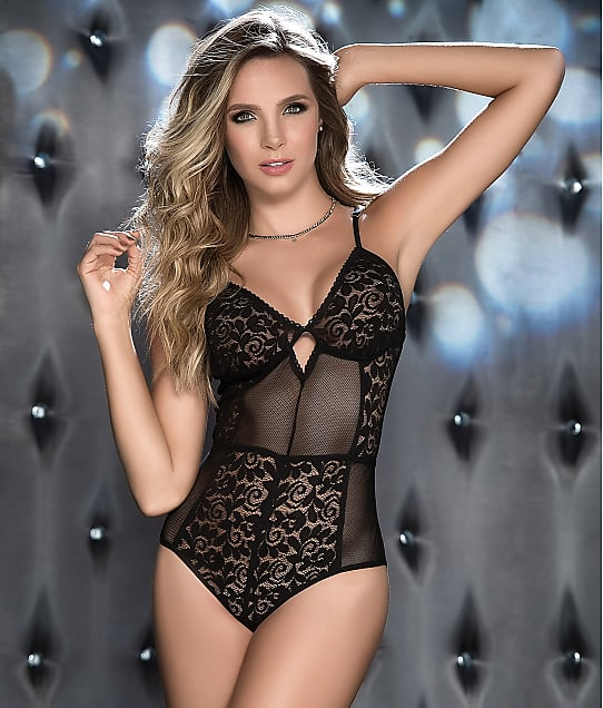 Mapalé: Lace And Mesh Wireless Teddy