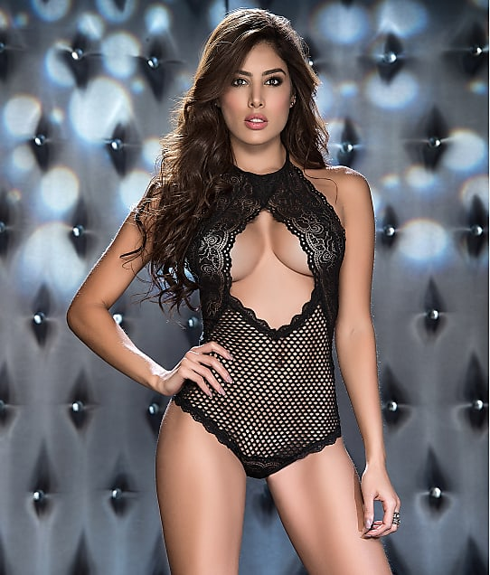 Mapalé: High Neck Fishnet Teddy