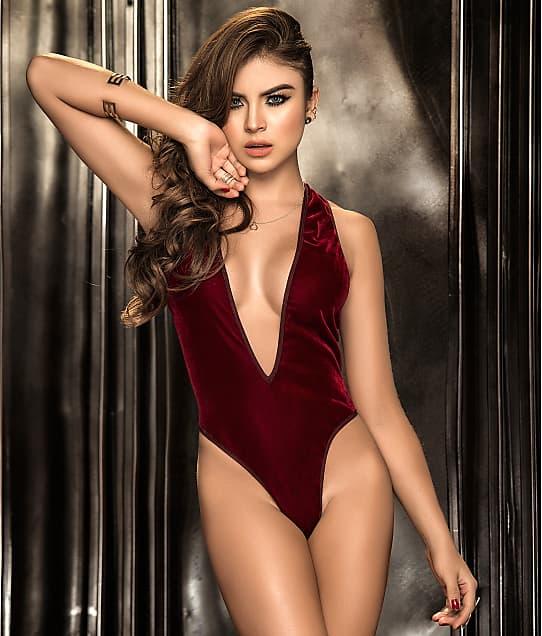 Mapalé: Deep Plunge Velvet Bodysuit