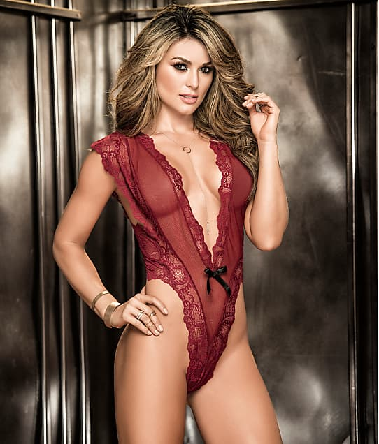 ed100a30b55ae Mapalé Deep Plunge Lace Teddy | Bare Necessities (8261)