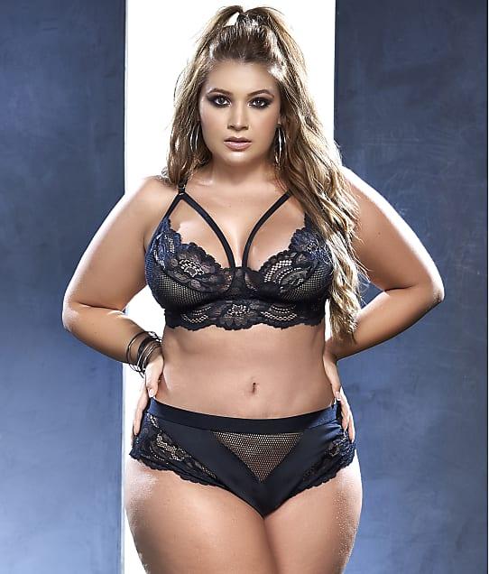 Mapalé: Plus Size Lace & Mesh Bra & Panty Set