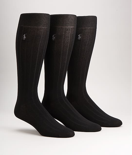 Polo Ralph Lauren: Over The Calf Dress Socks 3-Pack