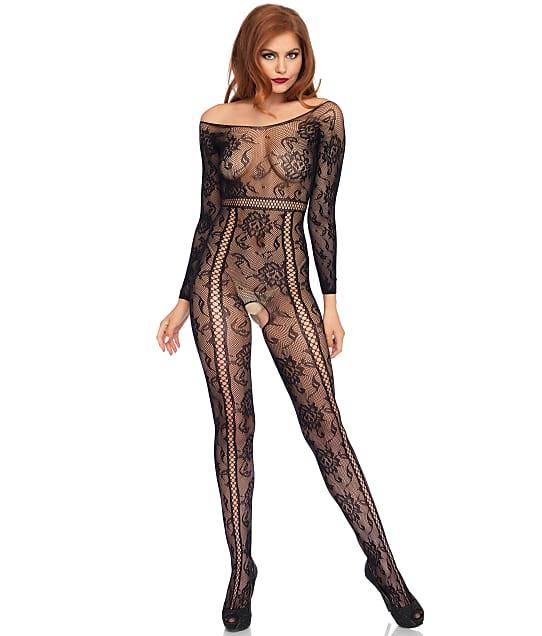 Leg Avenue: Seamless Lace Crotchless Bodystocking