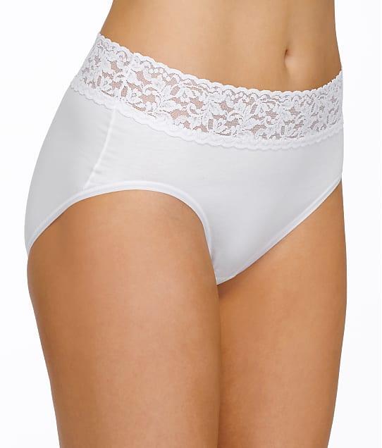 Hanky Panky Plus Size Supima Cotton Brief in White 892461X