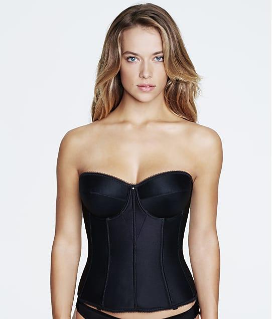 Dominique Juliette Strapless Corset in Black(Front Views) 8950