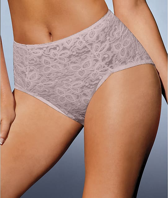 Bali Lace 'N Smooth Firm Control Brief in Rosewood 8L14