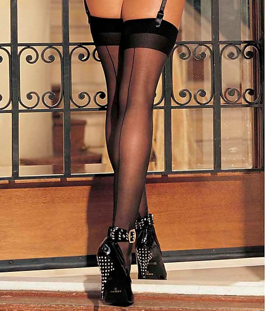 Shirley of Hollywood: Sheer Back Seam Stockings