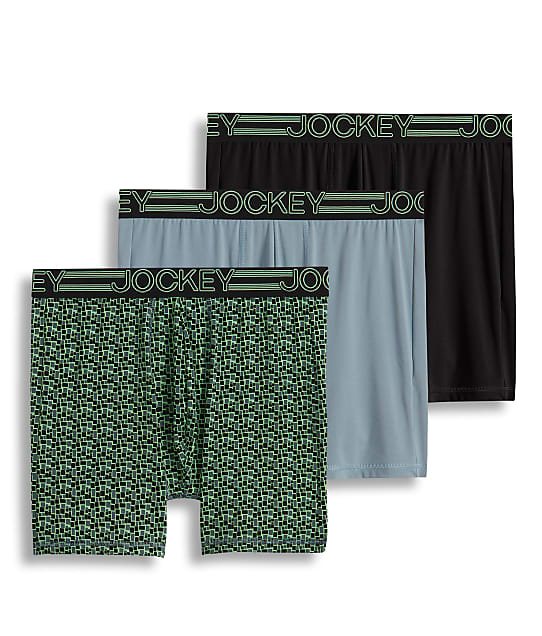 Jockey: Active Micro Stretch Midway® Boxer Brief 3-Pack