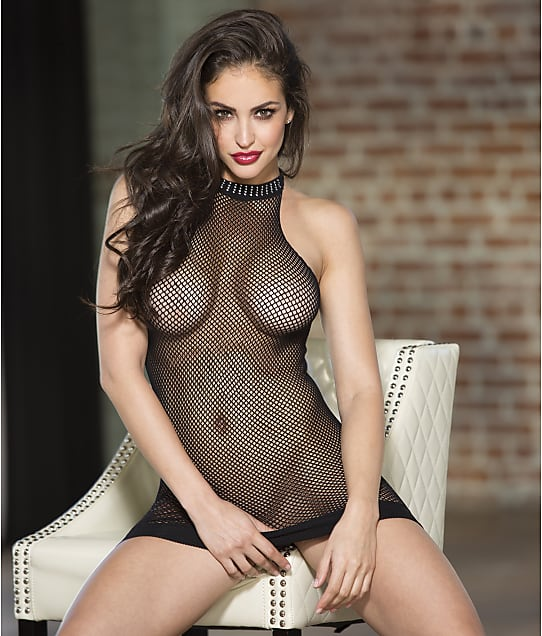 Shirley of Hollywood: Halter Fishnet Chemise