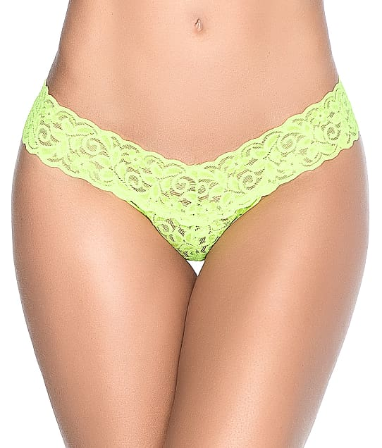 Mapalé Lace Thong in Neon Green(Front Views) 94