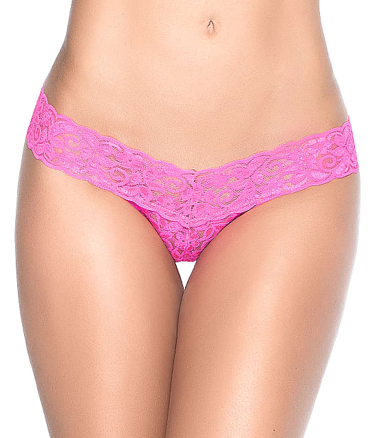 Mapalé Lace Thong in Neon Pink(Front Views) 94