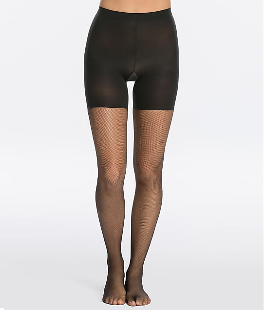 SPANX: Micro Fishnet Mid-Thigh Shaping Tights