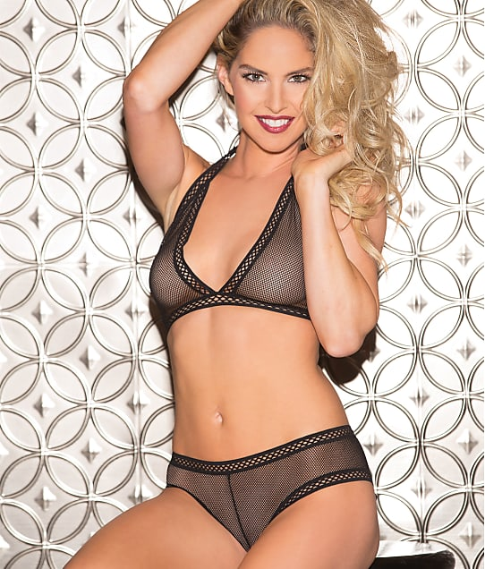 Shirley of Hollywood: Fishnet Wireless Bra and Panty Set