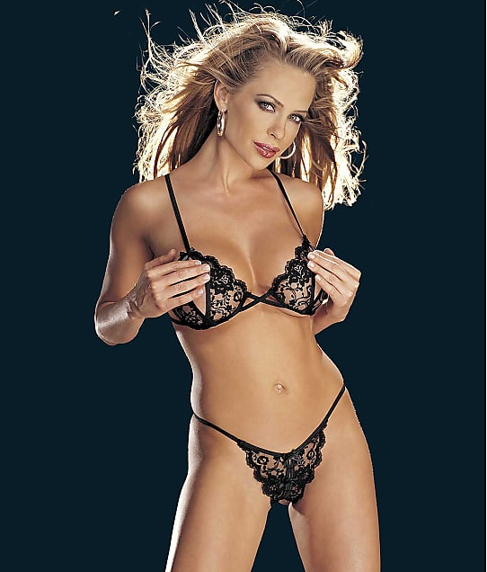 Shirley of Hollywood: Risque Collection Wireless Bra & Panty Set