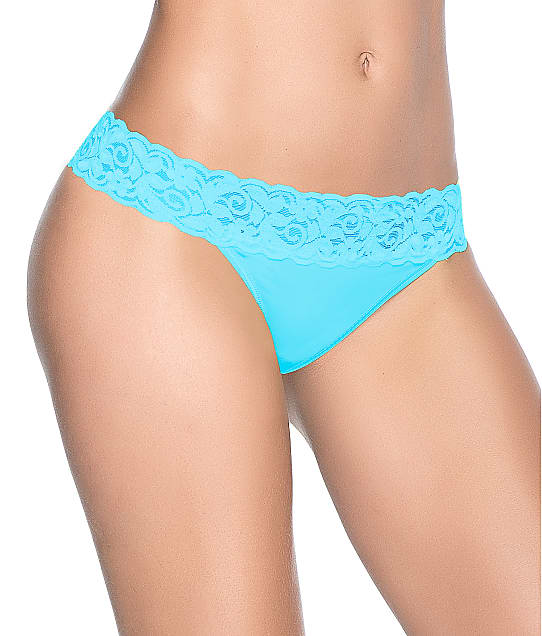 Mapalé Lace Trim Thong in Turquoise 96