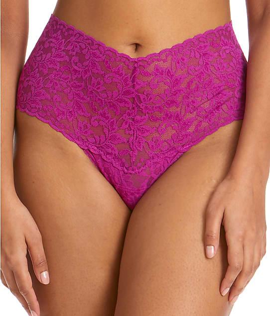 Hanky Panky Signature Lace Retro Thong in Belle Pink 9K1926