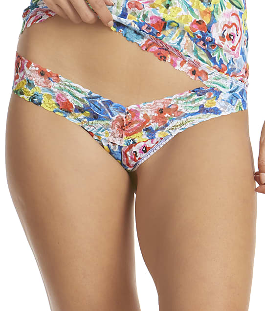 Hanky Panky Brillant Blooms Low Rise Thong in Brilliant Blooms 9Z1582