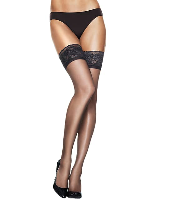 Hanes: Silk Reflections Lace Top Thigh Highs