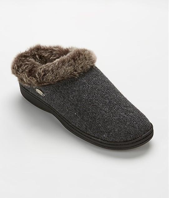 Acorn: Faux Chinchilla Clog Slippers