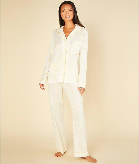 Cosabella Bella Printed Knit Pajama Set in Animal Limone(Front Views) AMORP9644
