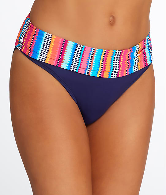 Anne Cole Signature: Triangle Stripe Fold-Over Bikini Bottom