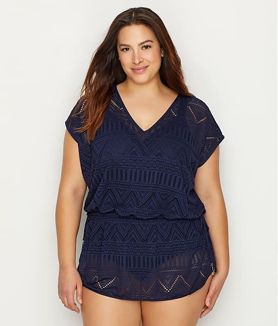Anne Cole Signature Plus Size Crochet All Day Swim Cover Up Bare