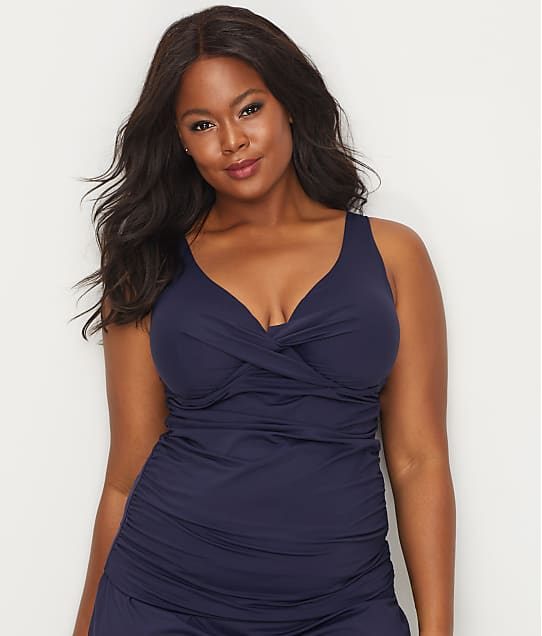 Anne Cole Signature: Plus Size Live In Color Underwire Tankini Top
