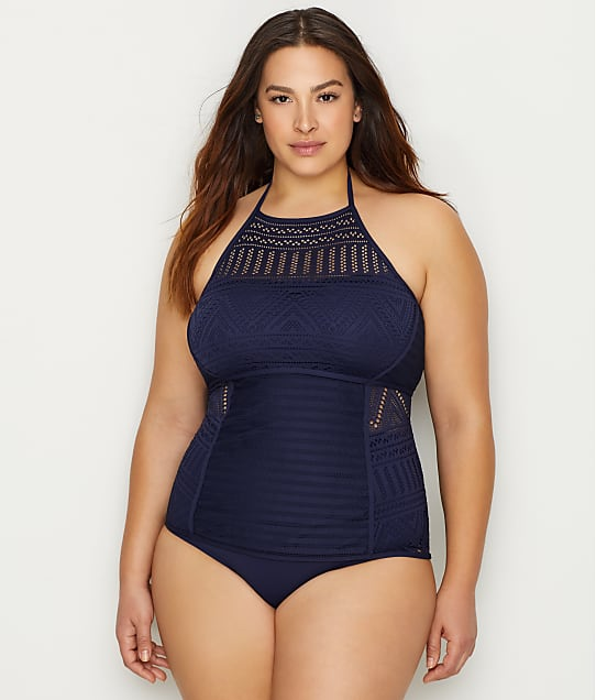 Anne Cole Signature: Plus Size Crochet All Day Tankini Top
