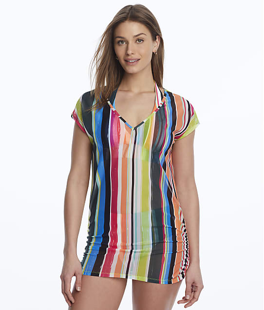 Anne Cole Signature: Clear Water Stripe Mesh Cover-Up