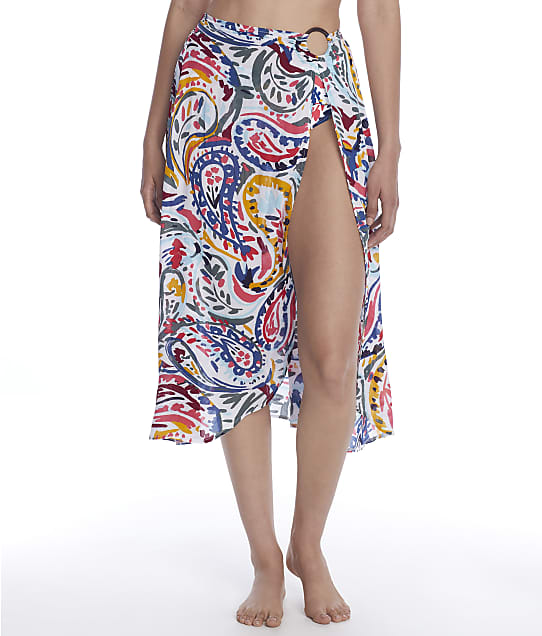 Anne Cole Signature Watercolor Paisley Sarong Cover-Up in Multi 21MC53388