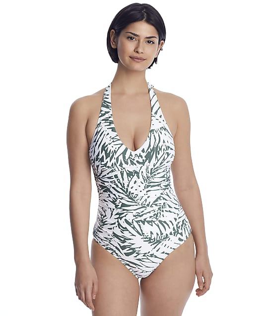 Anne Cole Signature: Palm Breeze Shirred Halter Tankini Top
