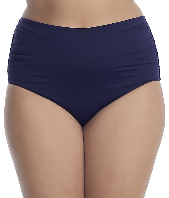 Anne Cole Signature Plus Size Live In Color Convertible Bikini Bottom in Navy(Front Views) 21PB36001